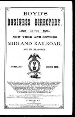 Oswego City Directory 1873