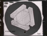 "2175-Hexagonal plate (with 3 bordering elements and as noted ""St. Andrews Cross"".)"