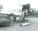 Korean War Casualties arrive at Sampson Air Force Base