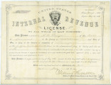 Certificate, license to practice law granted to Albion Winegar Tourgée from the State of Ohio,...