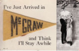 Vintage humorous postcards of McGraw NY