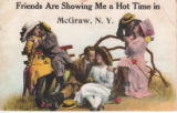 Vintage humorous postcards in McGraw, NY