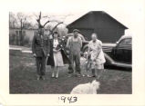 Group photo, Hardy family, 1943