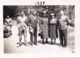 Willard, Jacob and Clara Hardy, in group photo, 1939