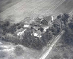 Aerial view, Jacob Hardy farm, 1946