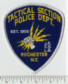 City of Rochester, Monroe County, New York State- Tactical Section Police Department Rochester N.Y. patch. (front)