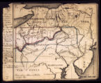 Map of the HLC lands in New York and Pennsylvania; 1794?