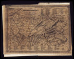 Map of Pennsylvania with Canals, Railroads, Coal regions and Inhabitants; 1835