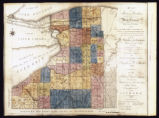 Map of Genesee with townships in counties & inhabitants; 1814?