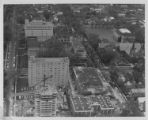 Aerial view of the campus under construction, 1968