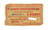 New York Bi-Centennial Special Excursion Train Ticket