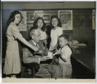 Mayor John Boyd Thacher, II, with Chinese-American Children