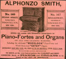 Alphonzo Smith Offers His Large and Extensive Assortment of Piano-Fortes and Organs of All the...