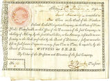 Certificate issued to Jacob A. Lansing for one share in the stock of the Northern Inland...