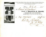 Reciept from Erastus H. Pease, bookseller and stationer for purchases made by the canal Department.