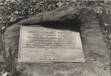 Tablet erected in 1903 to honor Mary Murray.