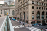 Pershing Square building and Grand Central Terminal seen from the Park Avenue viaduct, 2008.