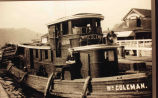 "Tugboat ""William Coleman"", Lock 22, Rexford, NY, c. 1910"