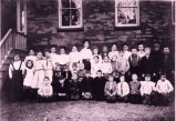 Jonesville Academy, School District Number 9, Jonesville, NY, c1903