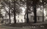 Academy dormitory and Episcopal Church, Main Street, Jonesville, NY, c.1910
