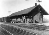 Railroad Station and Freight Depot, Elnora, NY, c. 1900