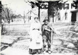 Elizabeth Van Vranken and John Wager, Riverview Road, Vischer Ferry, NY, c. 1900