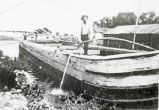 Work boat at Coal Pocket, Erie Canal, Vischer Ferry, NY, c. 1900