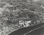 Aerial view of Rexford, NY showing location of amusement park