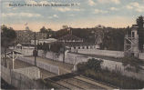 Bird's eye view of Dolle's Park amusement park, Rexford, NY