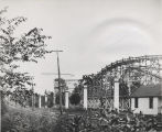 Luna Park roller coaster and park office, Rexford, NY