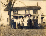 Group portrait, Home of John Kellogg, Elnora, NY