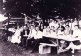 Clambake at Millard Woods,Ballston Lake, NY, c. 1925