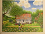 "Memory Painting, ""Harry and I in the Strawberry Patch"""