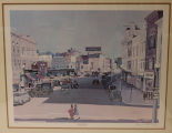 "Print: ""View South on Glen Street, Glens Falls, New York in 1944, Hometown, U.S.A."""
