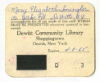Original Library Card (D3)