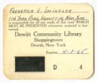 Original Library Card (D4)