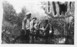 Civilian Conservation Corps employees fighting a forest fire at Green Lakes State Park