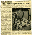 1862 Battleflag Returned to County Newspaper Clipping
