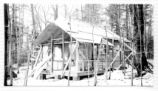 Construction of a cabin at Green Lakes State Park