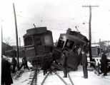 Train wreck on FJ&G Railroad in Gloversville, NY