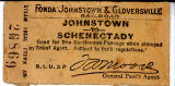 Ticket:  Johnstown to Schenectady