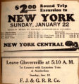 $2.00 round trip excursion to New York