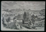 Drawing of Fort Plain with the Clinton Liberal Institute in the background