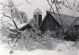 Ice storm at Donnan Farm Winter 1947