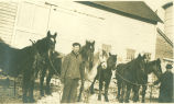 James George Donnan  and James A. Donnan with Work Horses