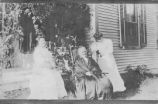 (L to R) Miss Connor, Lydia Maria Holt Lyon (1845-1915), daughter of Harvey and Maria Chase Holt,...
