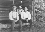 (L-R) Mel Hathaway, LeGrand Hale and Charles Monroe at camp