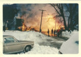 Burning of Alexander's store (formerly Estes Hardware Store) at noon on New Year's Day 1967 on...