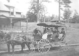 1888, Buckboard, L-R, Eleanor C. Aldepon (Janeway), Kikian Aldepon, Mrs. Coke (?), Mrs. B. Weston,...