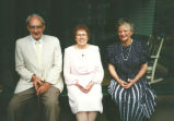 Edmonds, Adrian (1909-2005), Lora Pratt, his wife (1917-2004), and Louise Gregg at Robin Pell's...